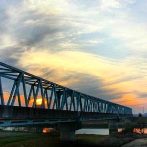 Landscape and evening sky 1
