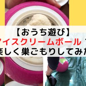 【おうち遊び】アイスクリームボール で子どもも巣ごもり外出自粛