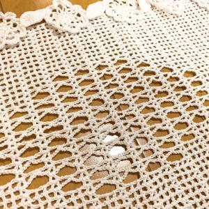 レース編み完成 テーブルセンター