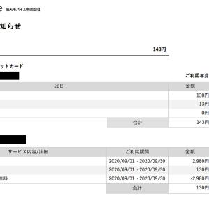 【利用明細】通話料見落としちゃった(´;ω;`)楽天モバイル 3カ月目のレビュー
