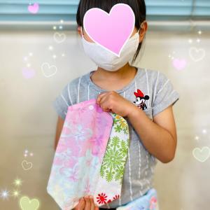 Lちゃんのステキなマスクカバー(4月21日完成)
