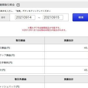 9月15日 FXドル円 トレード報告