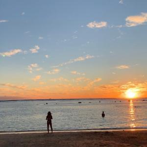 アラモアナビーチパークでのサンセット