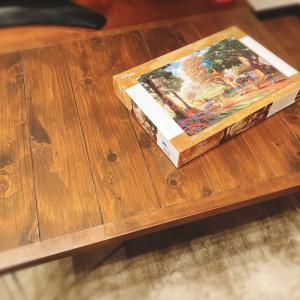 パズル用に折り畳みテーブルをDIY