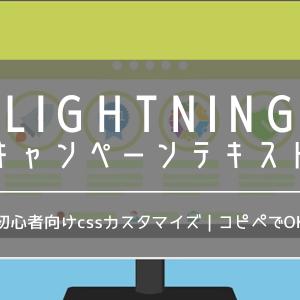 lightning pro|キャンペーンテキストのサイズ変更|cssカスタマイズ・コード付