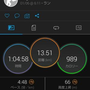 朝13.5kmJOG。New Balance  FuelCell PRISM。賞味期限切れの胸肉を消費。