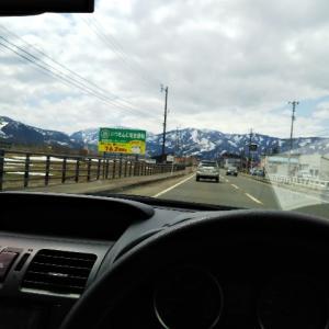 4月10日13.4kmJOG。残雪を眺めながら息子とドライブ。
