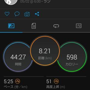 8.2kmJOG。走っていればたくさん食べても太らない?。