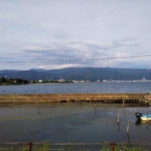 初諏訪湖ラン。今日も2部練。工事と疲労のため1周は断念。
