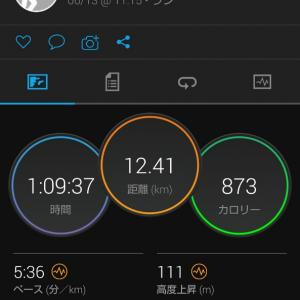 関西での生活4日目。12.4kmJOG。