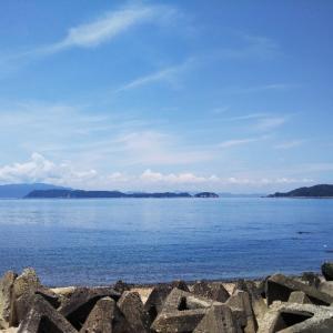 和歌山プチ観光RUN。和歌山市加太の海と空。13.6kmJOG。関西での生活5日目。