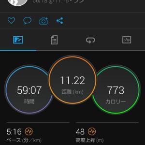 シャワーRUN。11.2kmJOG。関西での生活9日目。