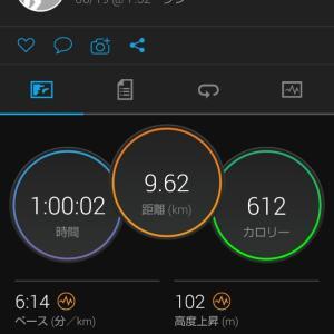 シャワーRUN。9.6kmJOG。関西での生活10日目。