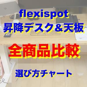 flexispot昇降デスク&天板の全商品を比較!選び方チャートも!