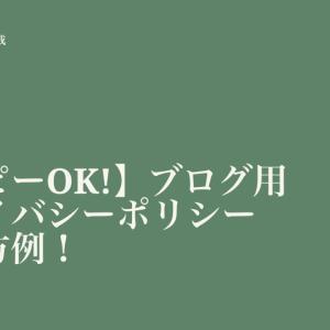 【コピペOK】ブログ用プライバシーポリシー書き方例(雛型あり)!