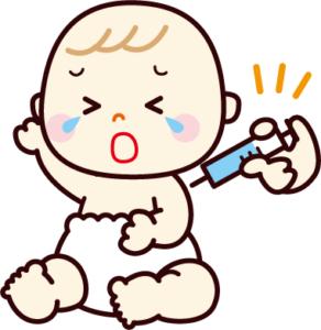 次女2回目の予防接種