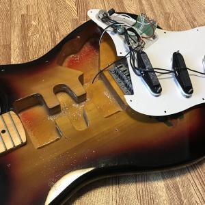 エレキギター(ストラト)を自分で修理・改造 ピックアップとジャック交換の配線について
