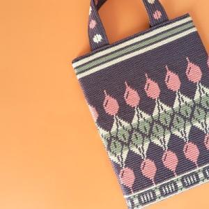 いつかWAYUUバッグを編みたくて...かぎ針編みの編み込み模様に初挑戦