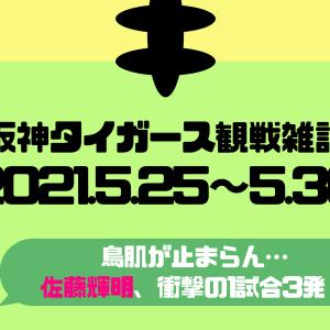 【阪神タイガース】5/25~5/30までのいいとこ取り!【TV観戦雑記】