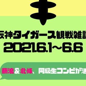 【阪神タイガース】6/1~6/6までのいいとこ取り!【TV観戦雑記】