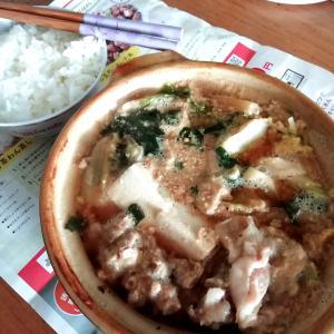 【ぼっち鍋】夕食に味噌味の豚鍋作ってみました♪