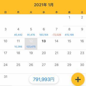 1/12収支 +123,475円(11/365)