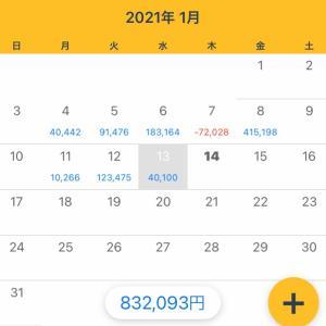 1/13収支 +40,100円(12/365)