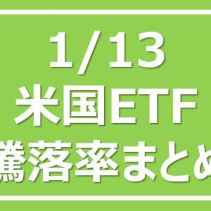 2021/1/13 米国ETF騰落率まとめ