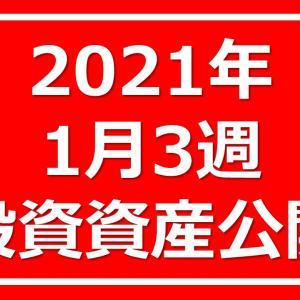 2021年1月3週投資資産公開!