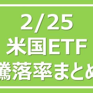 2021/2/25 米国ETF騰落率まとめ