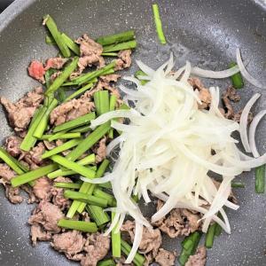 宅飲み常連に全力でおすすめ!簡単牛肉とニラの甘辛煮