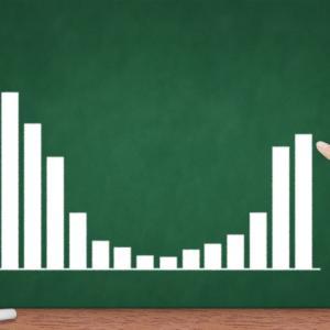 偏差値が急落、勉強見直し後の偏差値の変化