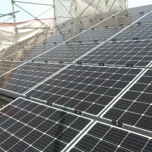 グランセゾン建築日誌:太陽光パネル設置