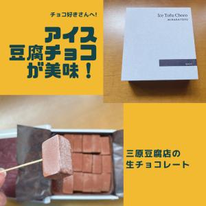 絶品❗三原豆腐店のアイス豆腐チョコが美味しい❗新食感のチョコをぜひお取り寄せで