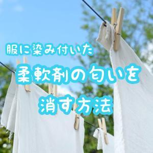 柔軟剤の匂いを取る方法|新品服に染み込んだきつい香りを消す