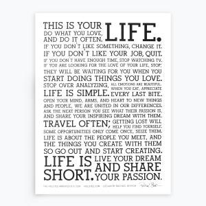 THIS IS YOUR LIFE 大切にしたい人生のマニフェスト