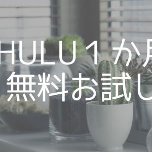 Hulu(フールー)を1か月無料試聴しました(通常は2週間?)登録してみた感想。