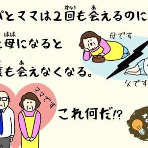 【簡単なぞなぞ.35】パパとママは2回も会えるのに、父と母になると一度も会えなくなるもの何だ?