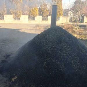 もみ殻燻炭の作り方!Part 3