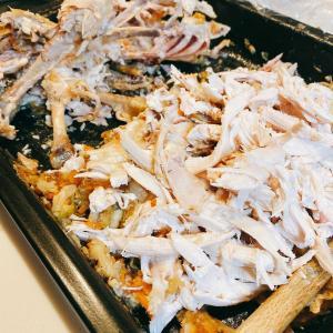鶏の丸焼きからの展開料理