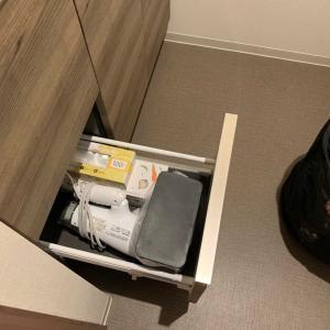 洗面化粧台のゴミ箱は、ここに仕舞ってます。