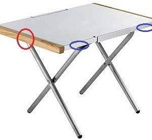 ユニフレームの焚き火テーブルを快適に -妄想通販 UNIFLAME 焚き火テーブル改造計画編-