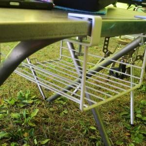 ユニフレーム焚き火テーブル快適化計画 -リアル通販 キャンプキッチンローテーブル編-