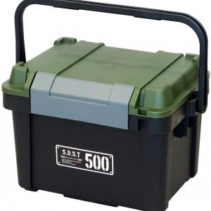 キャンプアイテム収納に最大荷重500kgのシールド収納ボックス -妄想通販 オリーブドラブカラー、サンドベージュカラーBOX編-