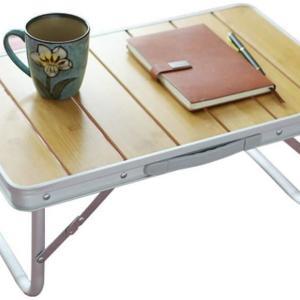 耐荷重80kgでテーブルトップが竹製のミニテーブル -妄想通販 ソロキャンプでお洒落な実用テーブル編-