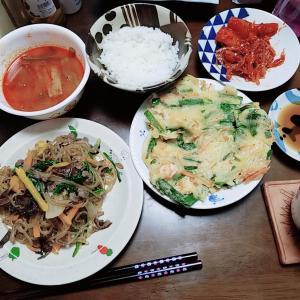 【韓国料理】チャプチェとチヂミ 簡単レシピ