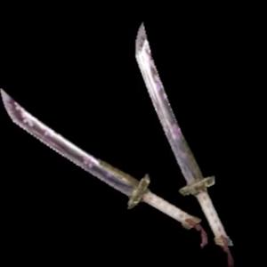 双剣←よく見る 双斧←たまに見る 双盾←稀に見る 双槍←まったく見ない