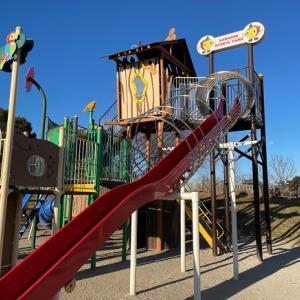 【川越運動公園】ボール遊びに最適な広場、遊具の特徴は長いすべり台