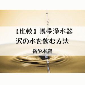 サバイバル携帯浄水器[比較]5選+α|登山浄水器 キャンプで沢の水を飲む方法