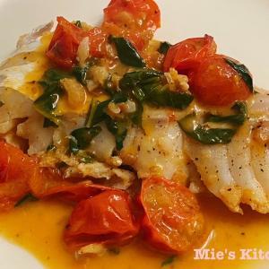 #21 白身魚の白ワイン・トマトバジルソース